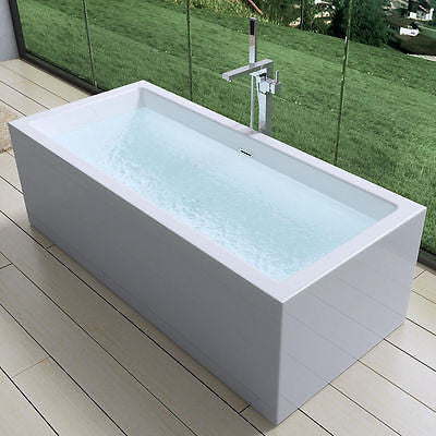 freestanding acrylic bath tub square