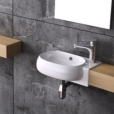 Durovin Bathrooms luxury modern compact basin wall hung or counter mountable