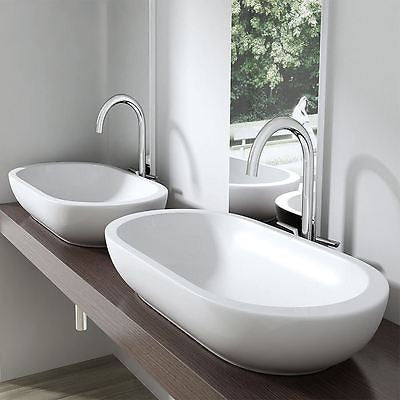 Durovin Bathrooms Bruessel 5057 counter top mounted, with vessel style taps.