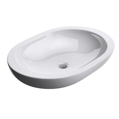 Durovin Bathroom ceramic basin sink, deep fill vessel tap design. Counter top mountable.