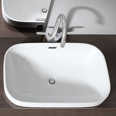 Curved modern deep wash basin by Durovin Bathrooms