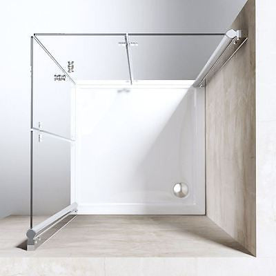 Ravenna 26 Bi Folding Frameless Corner Space Saving Glass Shower