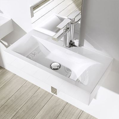 Square Ceramic Counter Top Basin 600 x 310mm | Bruessel 118G