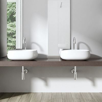 oval curved bathroom wash basin by durovin