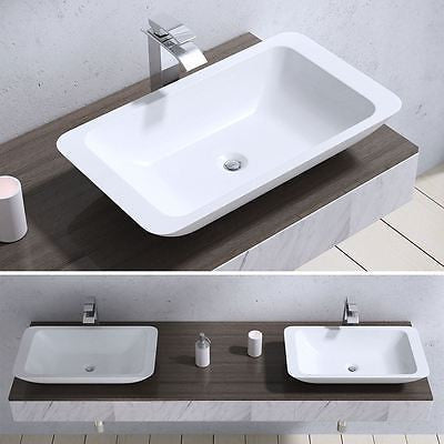 Counter Top Cast Stone Stage Vessel Basin 597 x 345mm | Colossum 801