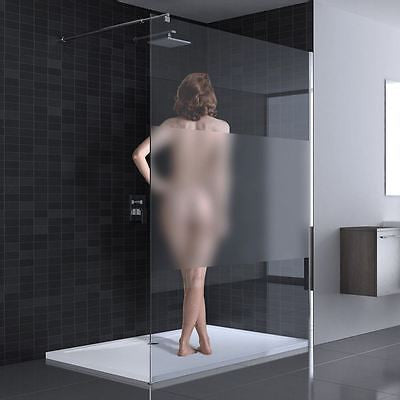 BR7003 Walk In Shower Screen - Frosted Strip Glass
