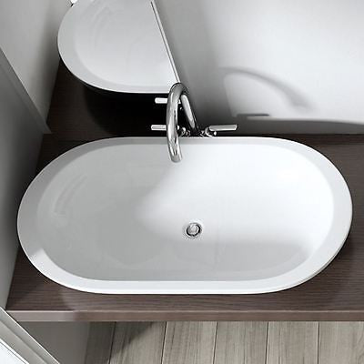 Durovin Bruessel 5057 ceramic basin sink, vessel tap design.