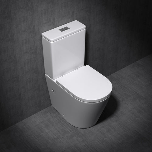 Aachen 2179 Close Couple Toilet and Cistern With Soft Close Seat (C49)