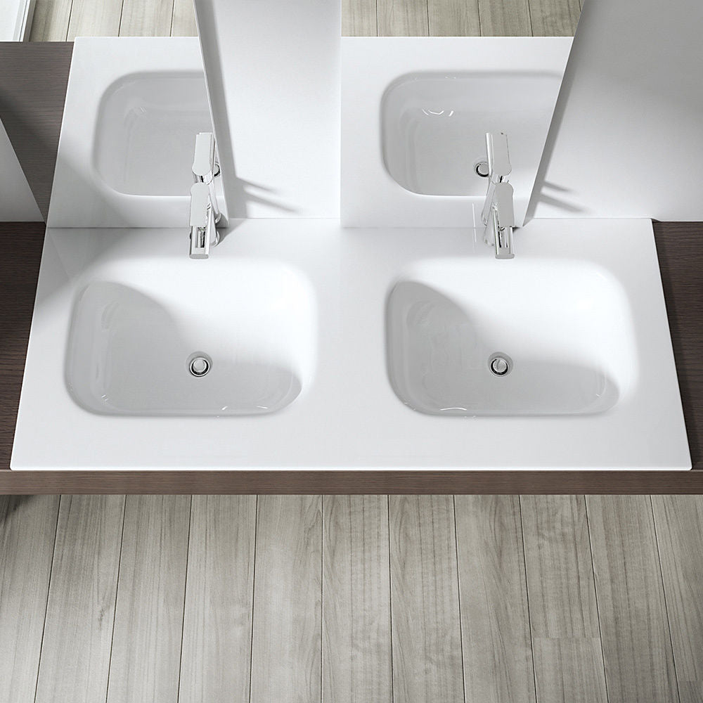 Colossum 04 Slimline Dual Sink With Recessed Basins