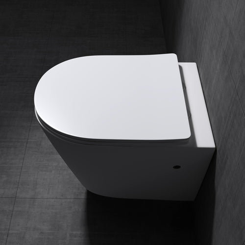 Aachen 3083 Open Rim Wall Hung Toilet With Soft Close Seat (C48)