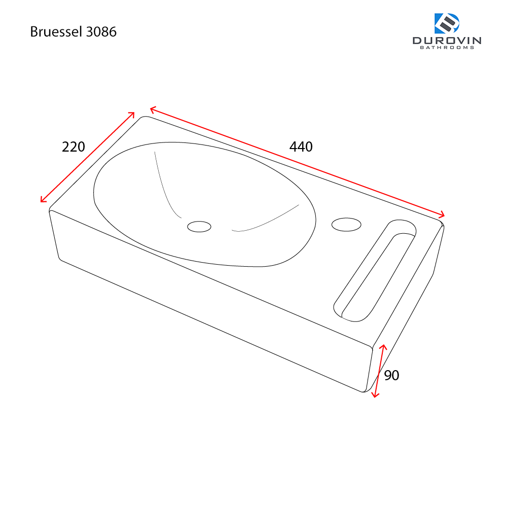 Bruessel 3086  technical dimensions