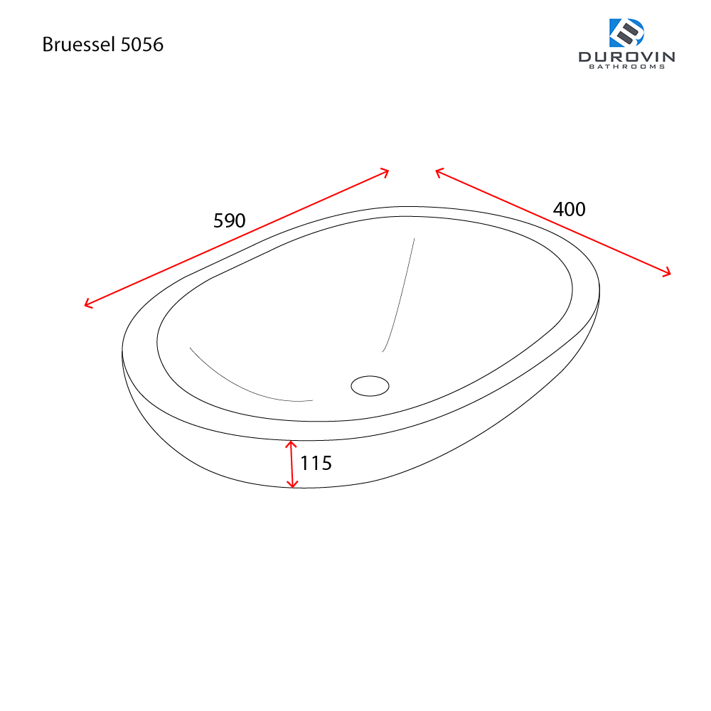 Bruessel 5056 technical dimensions image.