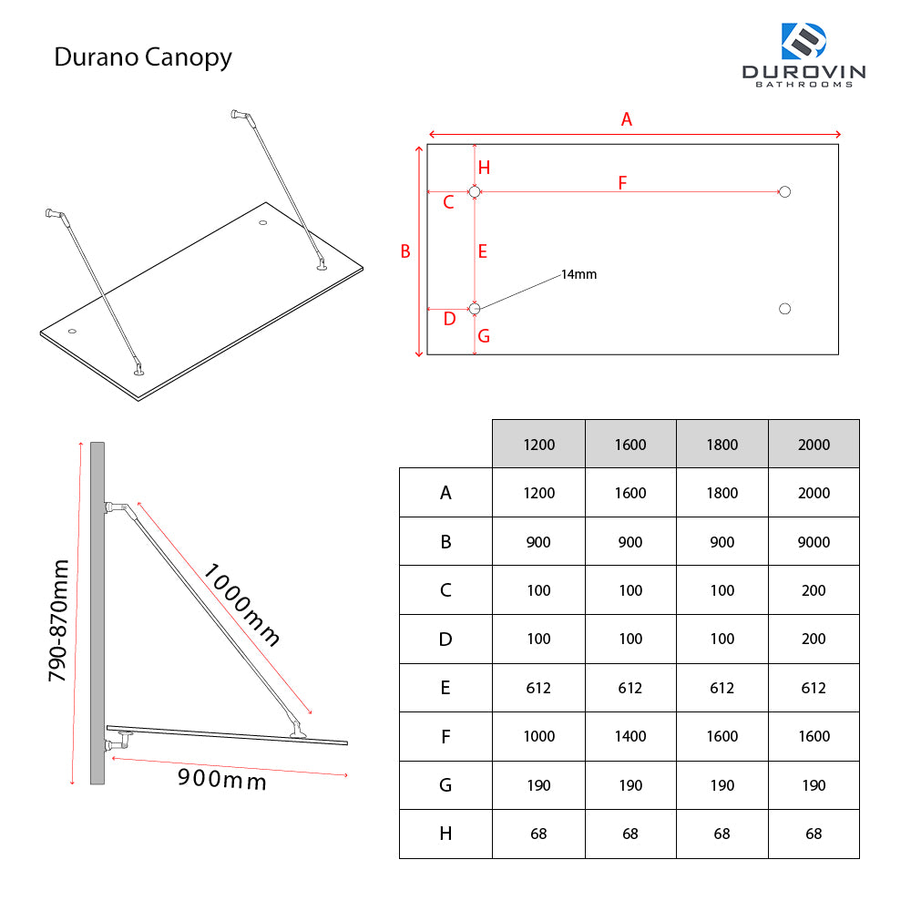 Durano glass canopy technical instructions