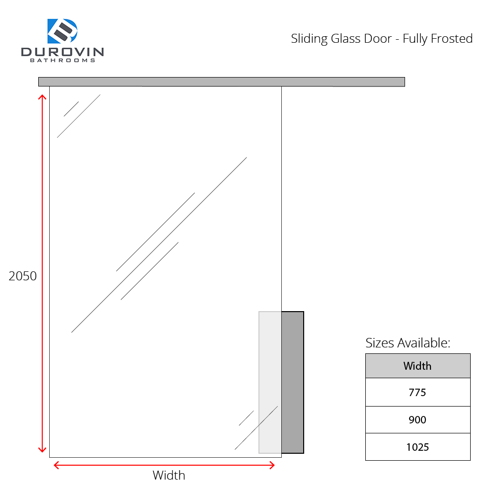 sliding glass door technical manual dimensions