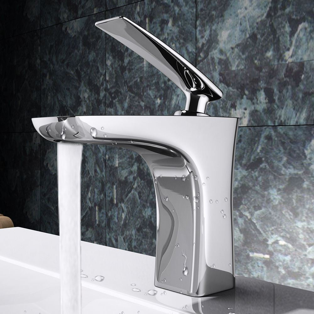 Chrome modern lever mixer tap
