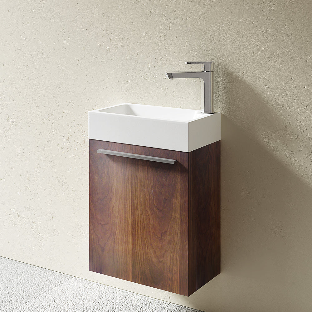 Pisa Cloakroom Wall Mounted Vanity Unit With Basin