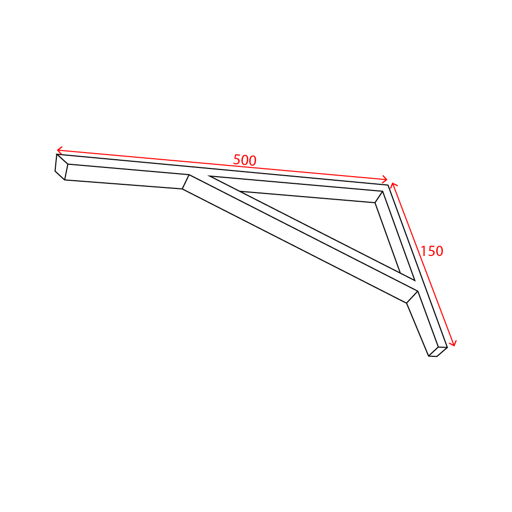 bracket technical dimensions