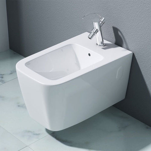 Aachen 107 Wall Hung Gloss Finish Ceramic Bidet (C44)