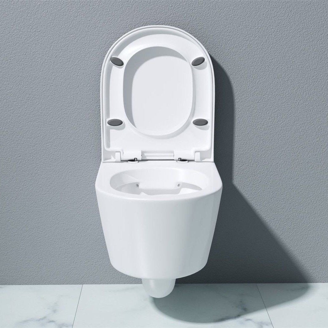 Cloakroom White Ceramic Wall Hung Toilet Pan