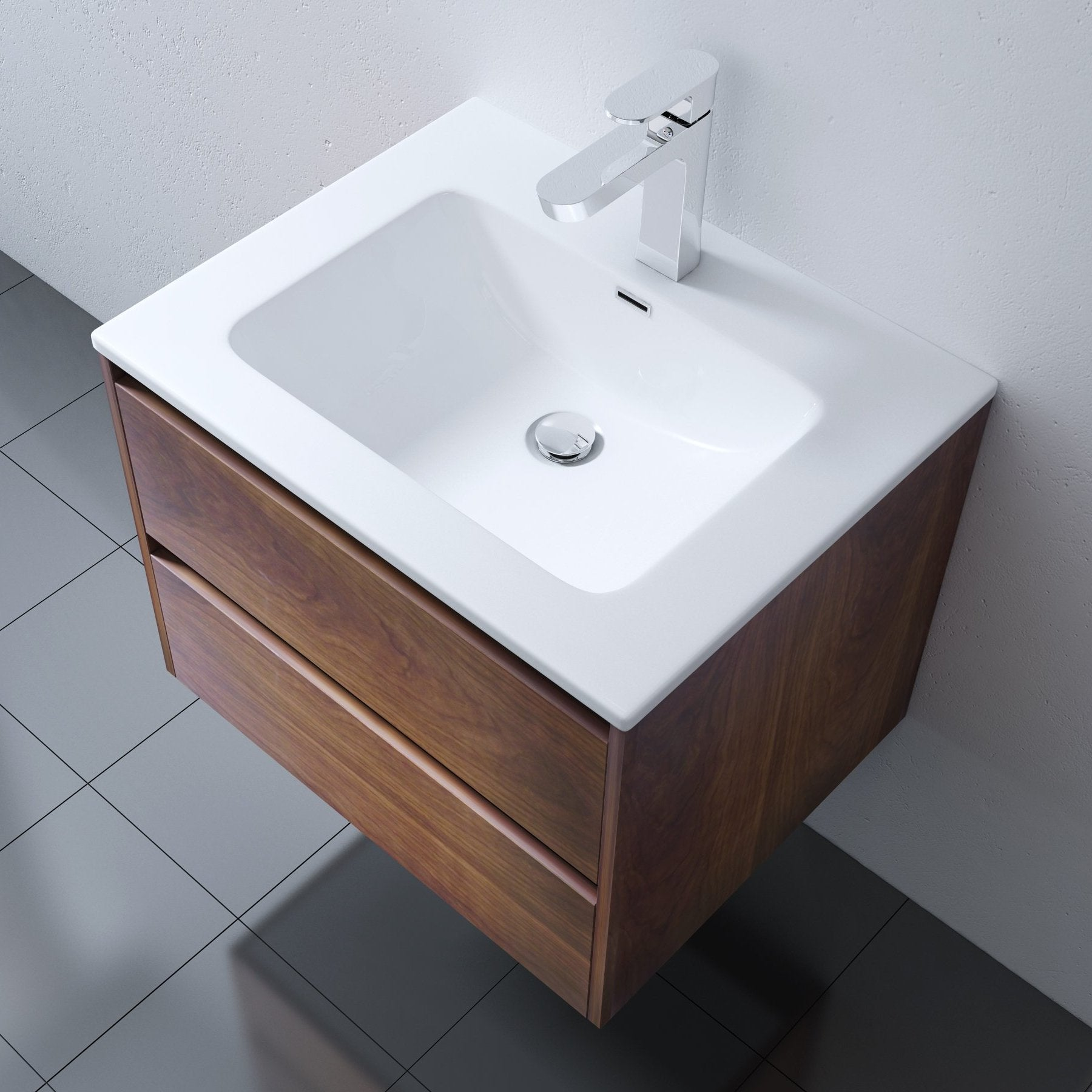 Positano Wall Mounted Vanity Unit With Basin