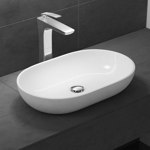New Product Counter Top Rounded Hand Cast Stone Basin  540 x 340mm Colossum 808
