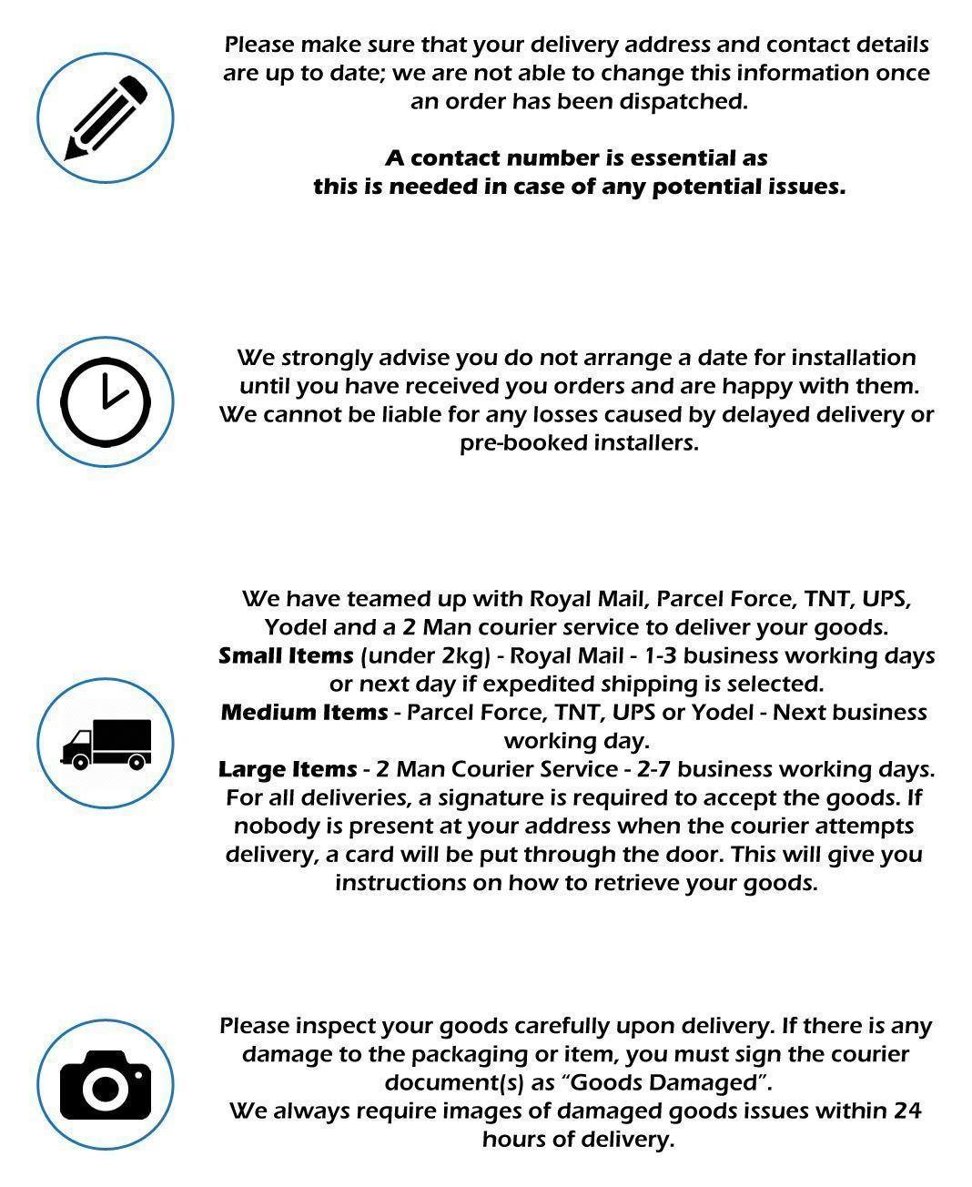Delivery Terms & Conditions. make sure all your contact details are correct.