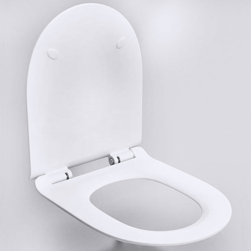 Bathroom Slim D Shaped Soft Close Toilet Seat UF-005