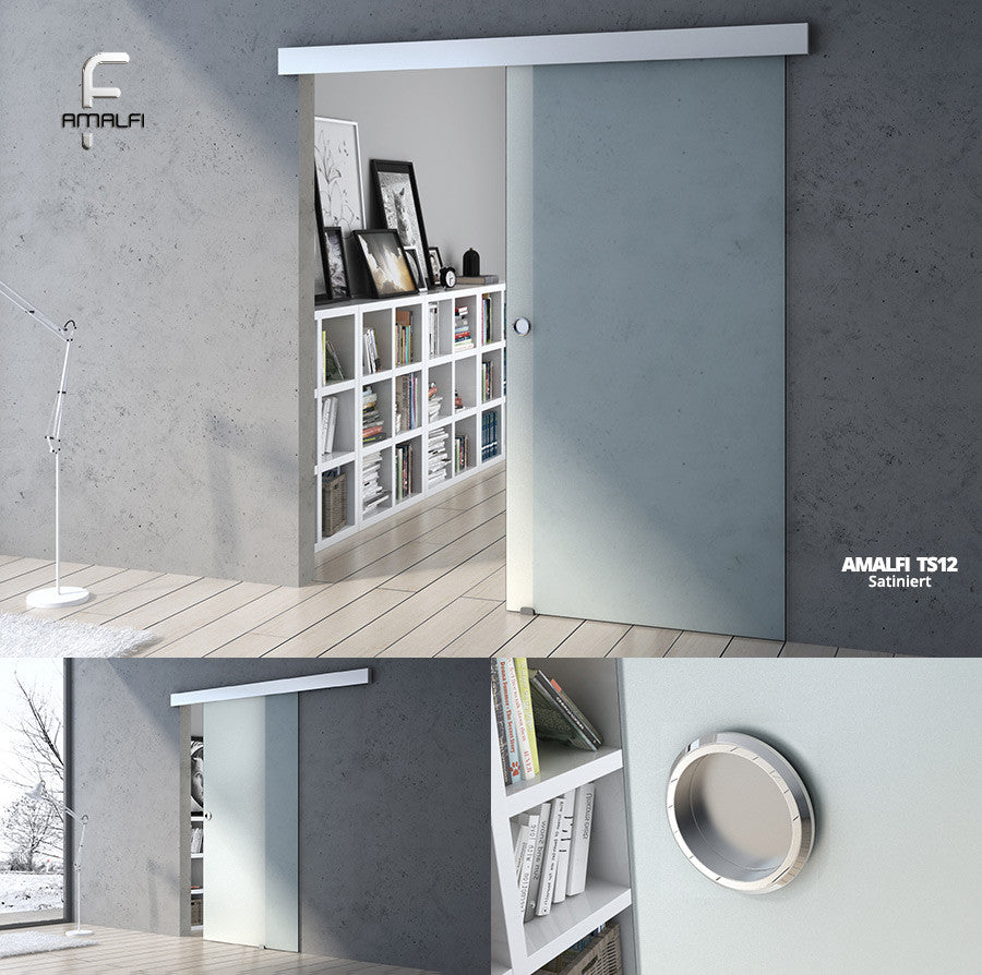 Durovin Home Sliding Door Glass Internal Partition Fully Frosted
