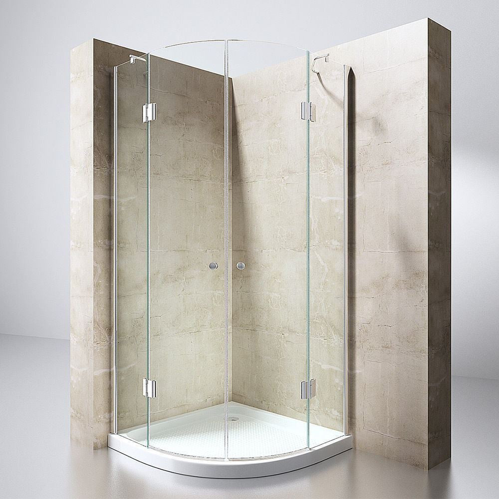 Modern curved shower enclosure quadrant