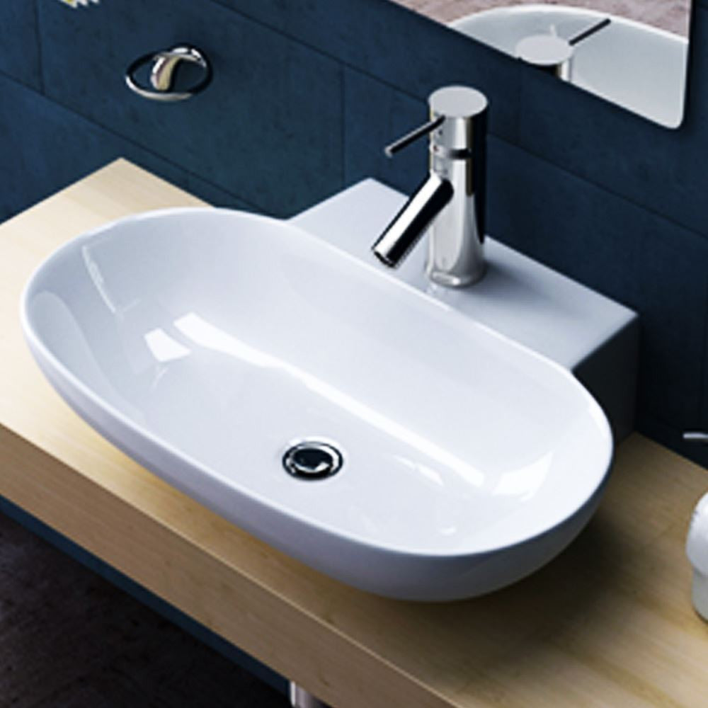 small cloakroom wash basin oval