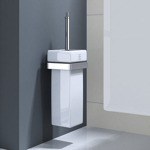 MMA807/MMA807B High Quality White Ceramic Toilet Brush Holder (G35)