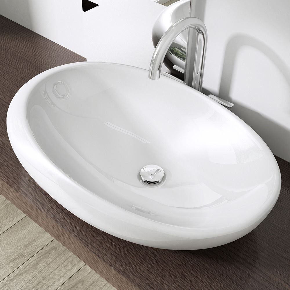 Curved bathroom bathroom wash basin by durovin