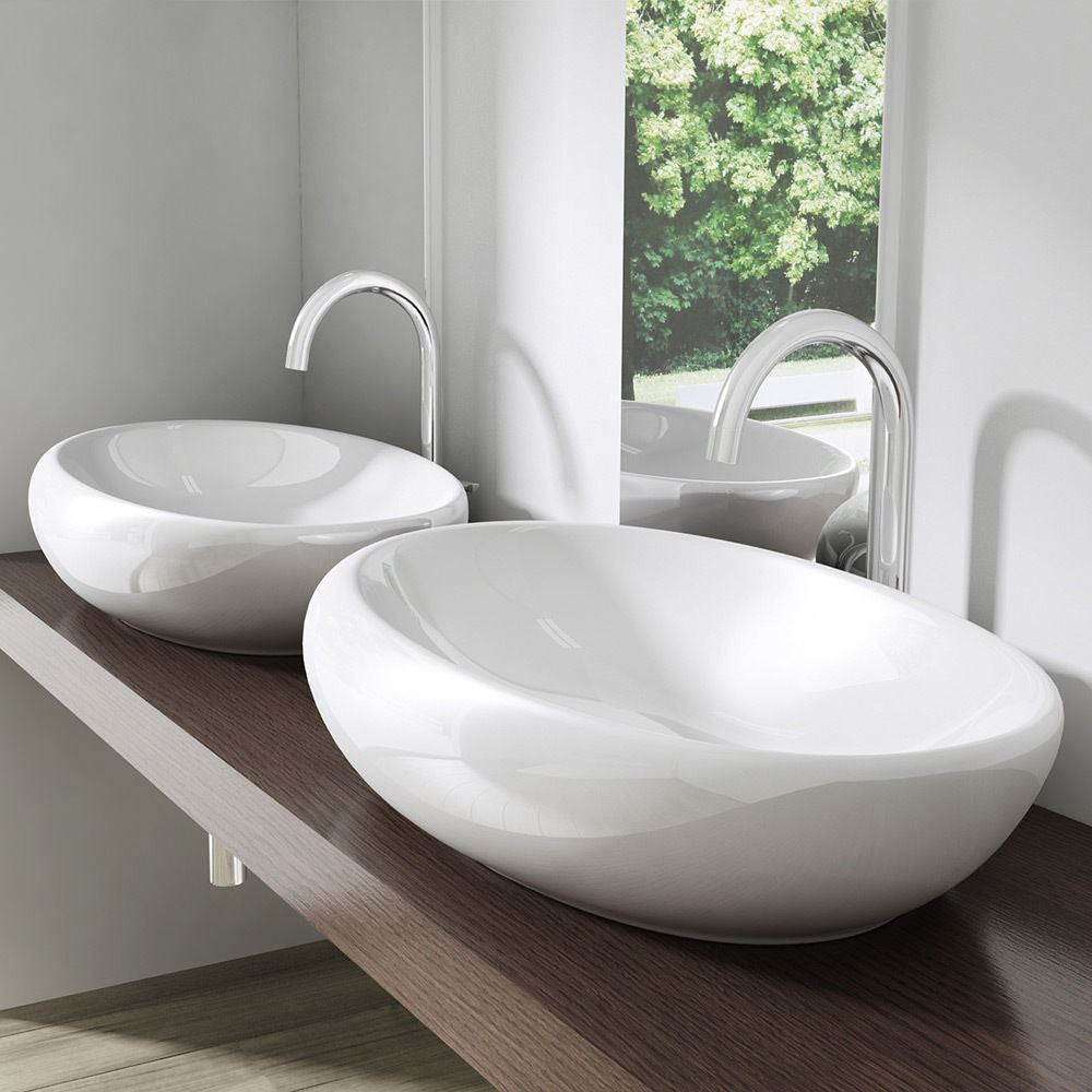 Curved modern wash basin slim by Durovin
