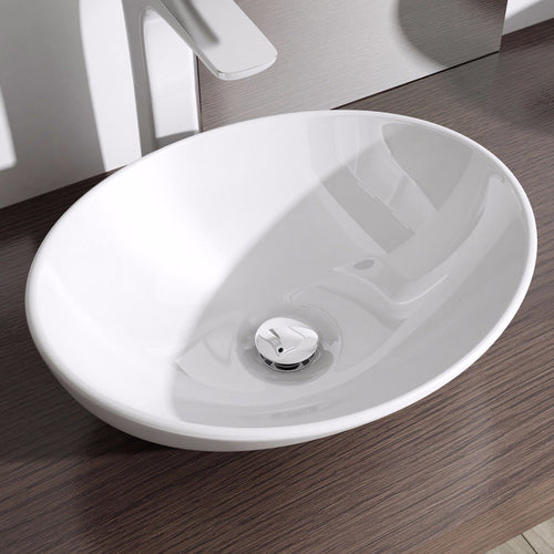 Counter Top Oval Ceramic Basin 470 x 330mm | Bruessel 205