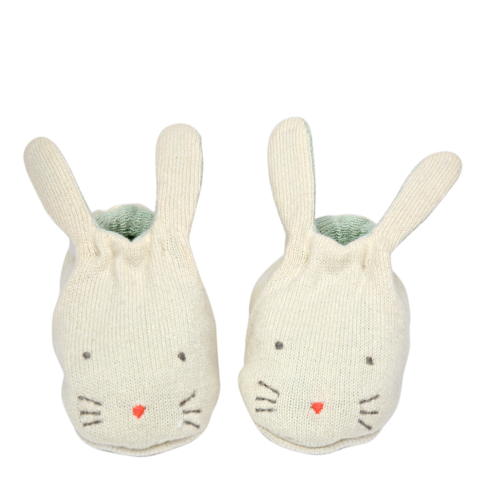 Meri Meri Mint Bunny Baby Booties - The Baby Service