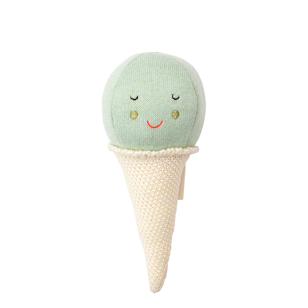 Meri Meri Mint Ice Cream Baby Rattle - Cute Gift Ideas - The Baby Service