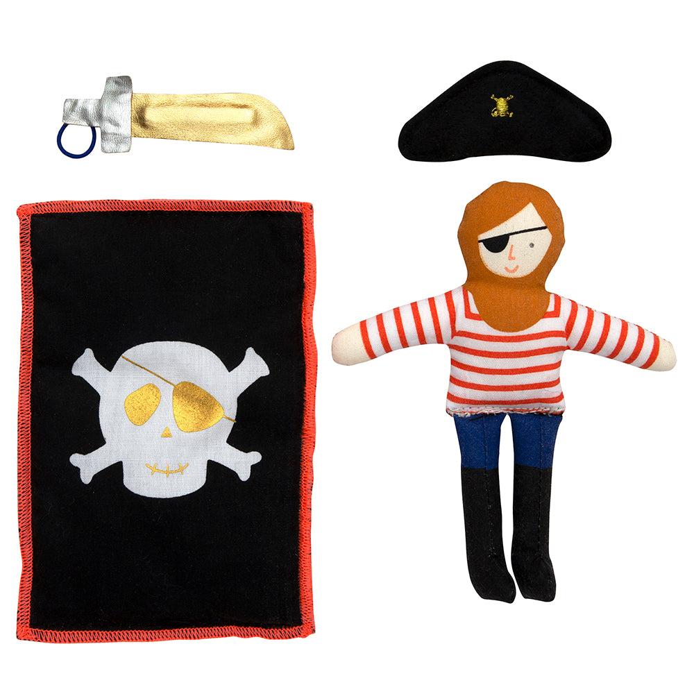 Meri Meri Pirate Mini Suitcase Doll - Gifts for Boys