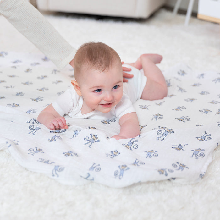 Aden + Anais Jungle Jam Swaddles 4 Pack - Lifestyle - The Baby Service