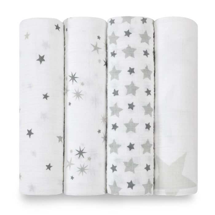 Aden + Anais Twinkle Swaddles 4 Pack - Baby Gift - The Baby Service