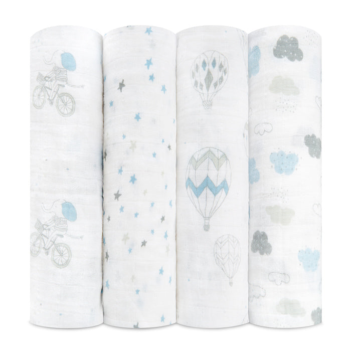Aden + Anais Night Sky Reverie Swaddle 4 Pack - The Baby Service, Chobham Surrey