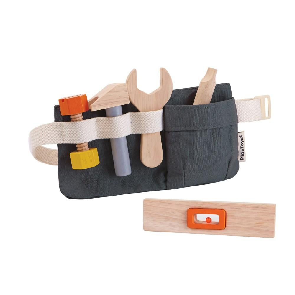 Plan Toys Tool Belt - Wooden Creative Play Toys - Gifts