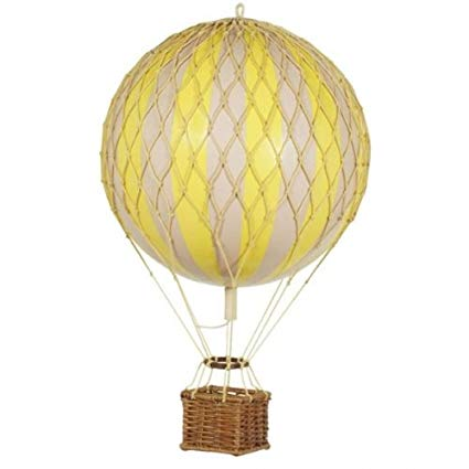 Yellow Authentic Models Floating The Skies Hot Air Balloon - Small Nursery Inspo