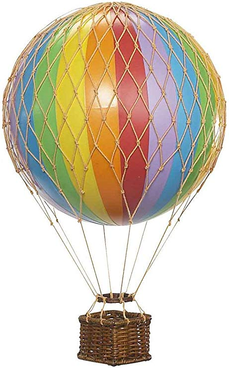 Rainbow Stripe Authentic Models Floating The Skies Hot Air Balloon - Small Nursery Ideas