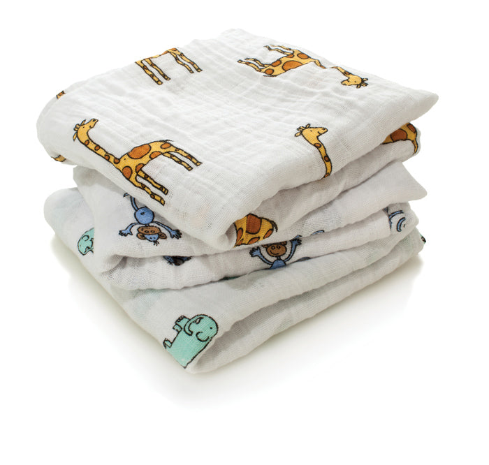 Aden + Anais Jungle Jam Musy Muslin Squares 3 Pack The Baby Service