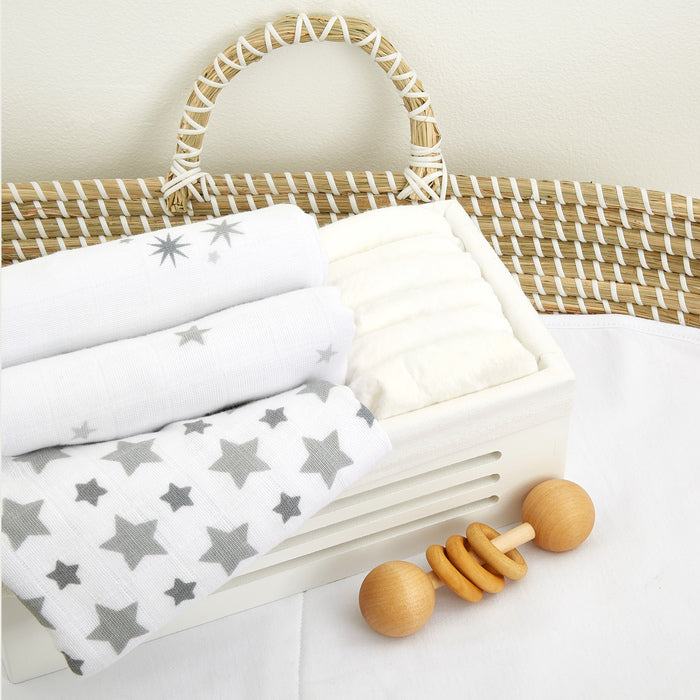 Aden + Anais Twinkle Musy Muslin Squares 3 Pack Lifestyle The Baby Service