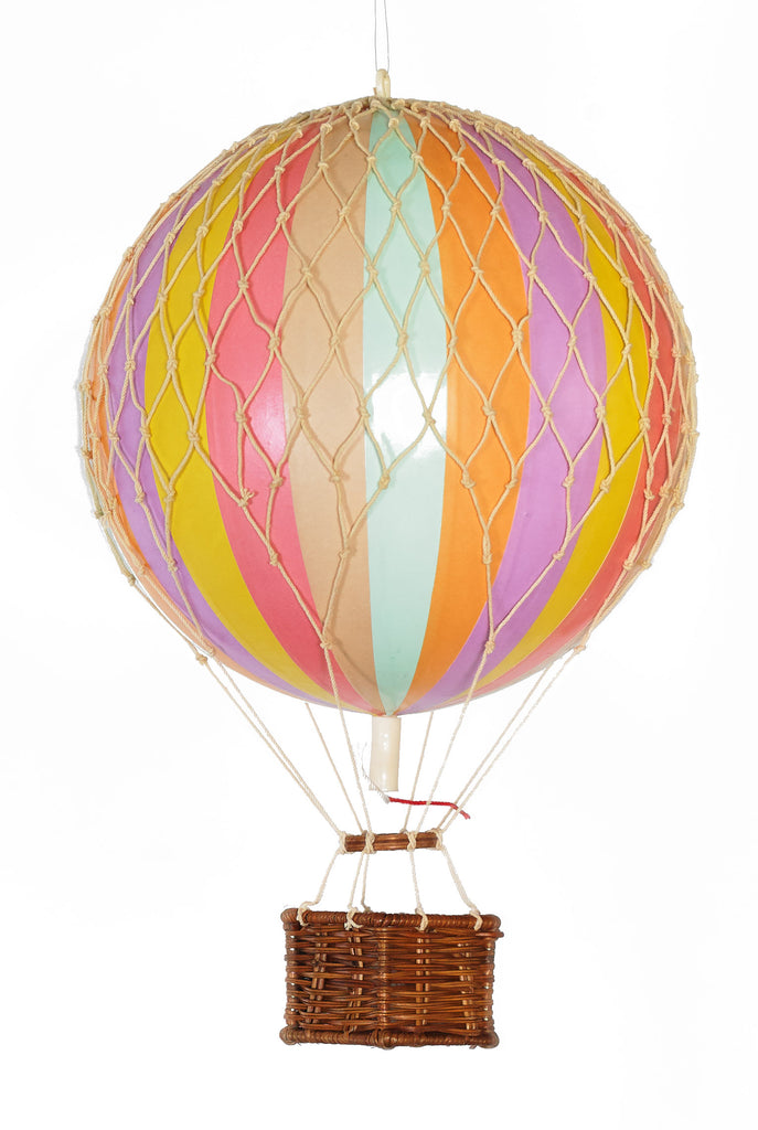 Pastel Rainbow Authentic Models Floating The Skies Hot Air Balloon - Small