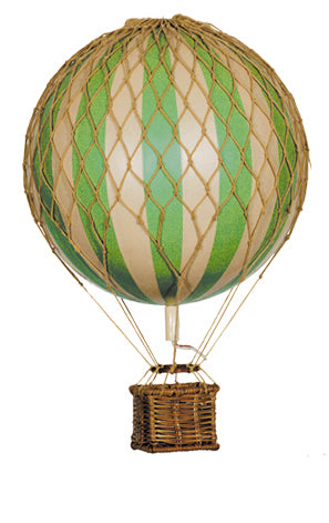 Green Stripes Authentic Models Floating The Skies Hot Air Balloon - Small