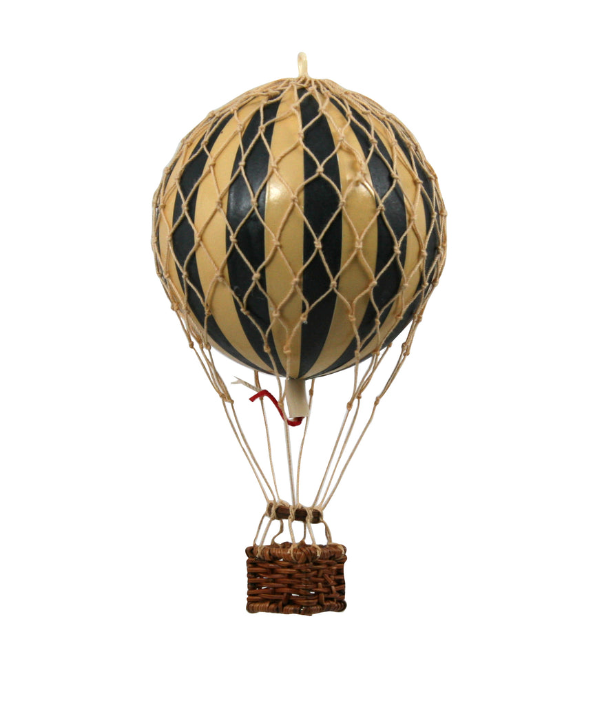 Black Stripes Authentic Models Floating The Skies Hot Air Balloon - Small