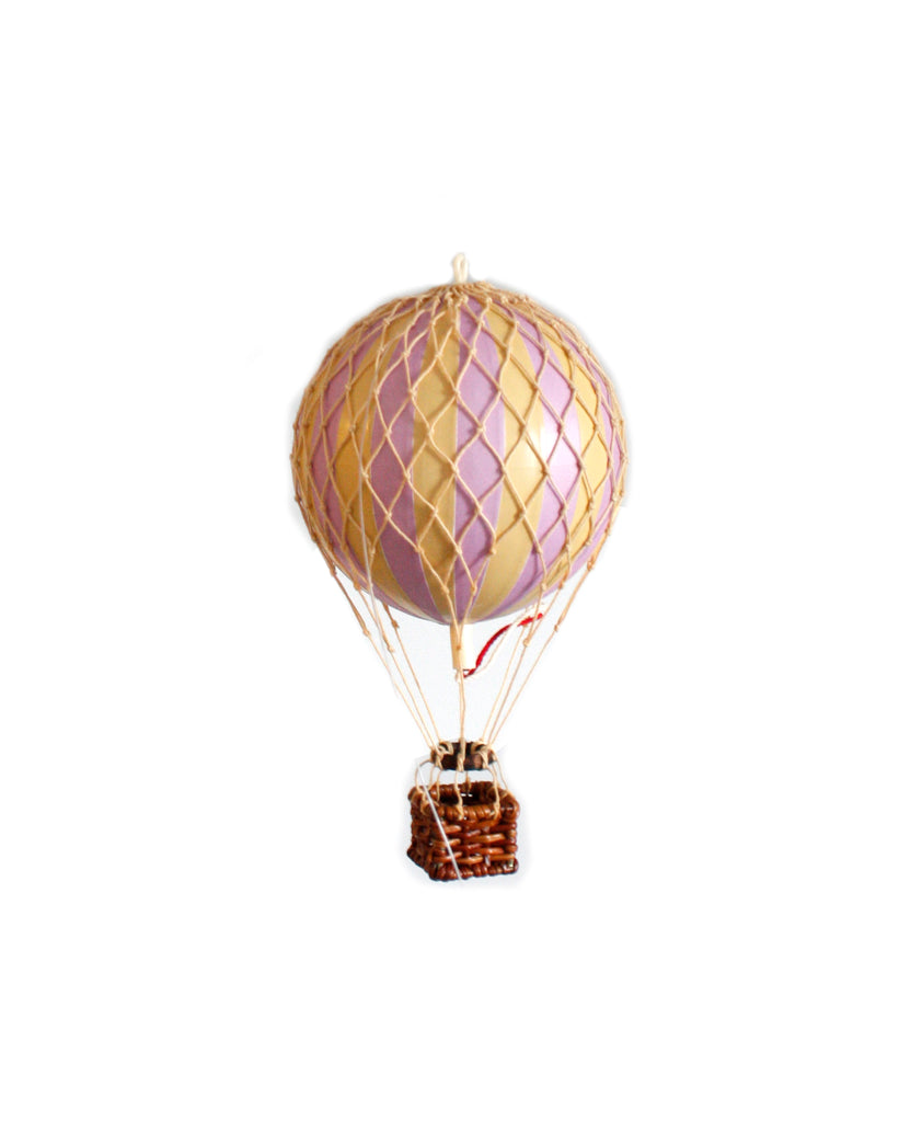 Lavendar Authentic Models Floating The Skies Hot Air Balloon - Small