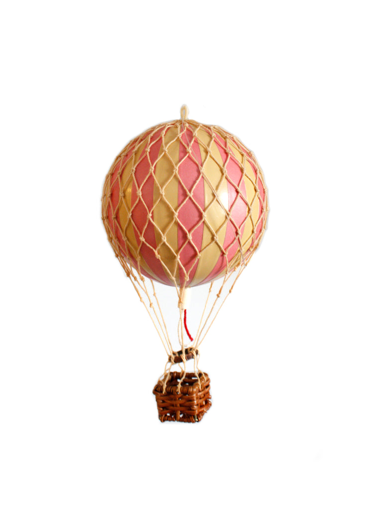 Pink Authentic Models Floating The Skies Hot Air Balloon - Small